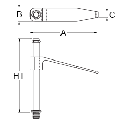 Technical drawing for tension clamps