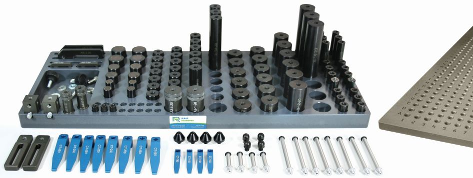 R&R 1/4-20 CMM Magnetic and Clamping Kit B