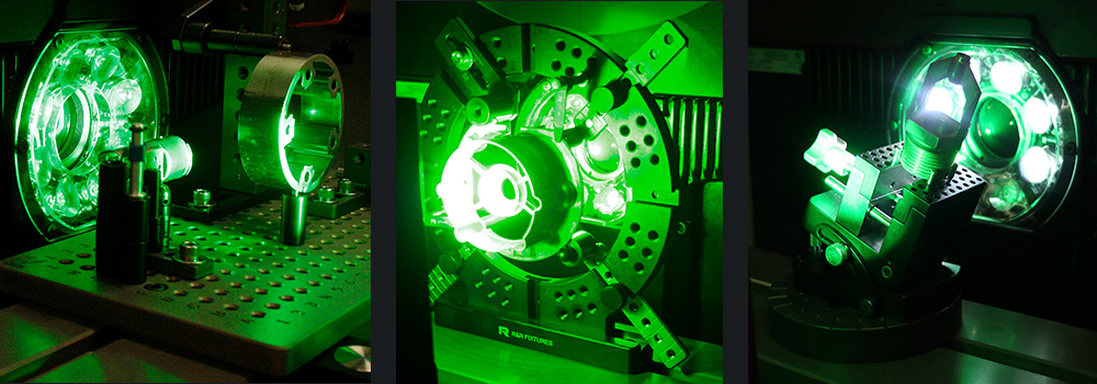Optical Comparator Fixturing collage