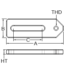 Technical Drawing for adjustable slide
