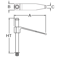 Technical drawing: R&R tension clamp