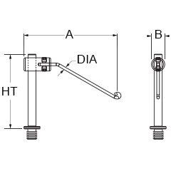 Technical drawing for spring wire clamp