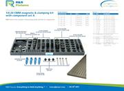 Data sheet for R&R CMM fixtures 1/4-20 plate options with magnetic & clamping set A