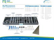 Data sheet for R&R CMM fixtures M8 plate options with clamping set A