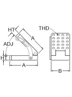 Technical Drawing for adjustable angle plate