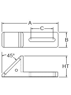 Technical drawing for adjustable slide mirror