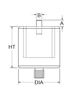 Technical drawing for pin magnets