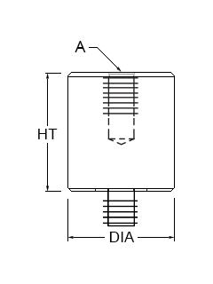Technical drawing for standoff adaptor