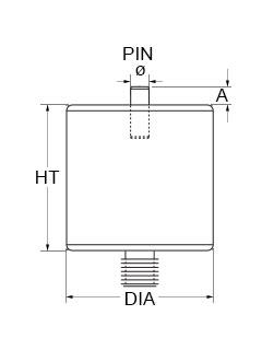 Technical Drawing for pin standoffs