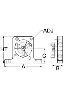 Technical drawing for 3-jaw clamp