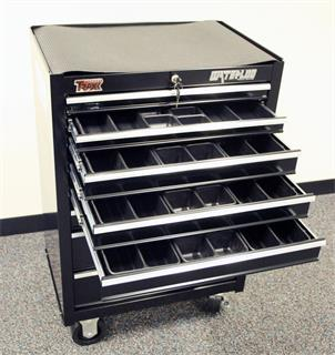 R&R component cabinet with drawers open