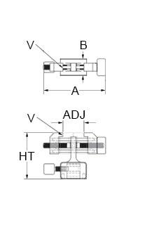 Technical Drawing for micro vice clamp without base